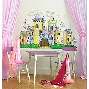 Candy castle big vinyl mural wall stickers baby for Candy wall mural