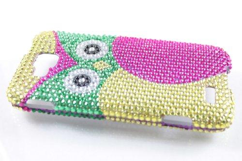 Samsung Ativ S T899M Full Diamond Hard Case Cover For Owl + Earphone Cord Winder