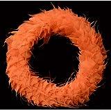 Exotic Creations Orange Delight -Dried flower wreath(Orange,L=40 cm X W=40 cm X D= 40 cm)