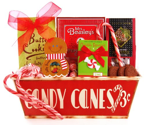 Image of Wine.com Candy Cane Tin Gift Package