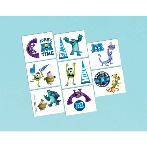 Monsters University Inc. Temporary Tattoos (1 sheet)