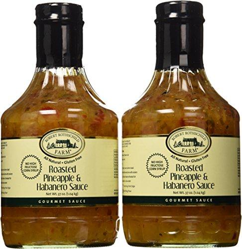 Roasted Pineapple & Habanero Sauce, 2 37 Ounce Bottles (Pineapple Habanero Sauce compare prices)