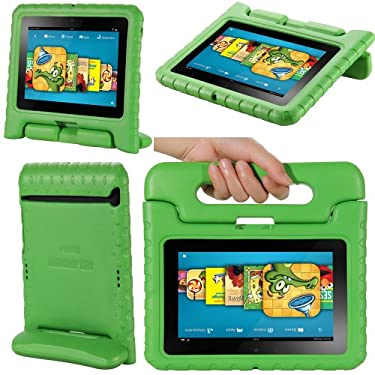 "i-Blason ArmorBox Kido Series for Kindle Fire HD 7 Inch Tablet Convertible Stand Cover Case Kids Friendly (will only fit Kindle Fire HD 7"" 1st Generation 2012) (Green)"