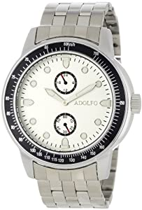 ADOLFO Men's 31019A Multifunction 2 Sub Zone Watch