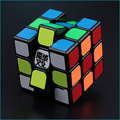 Oostifun Moyu Aolong V2 Black 3x3x3 Version 2 Speed Puzzle Cube (+a Cube Bag)