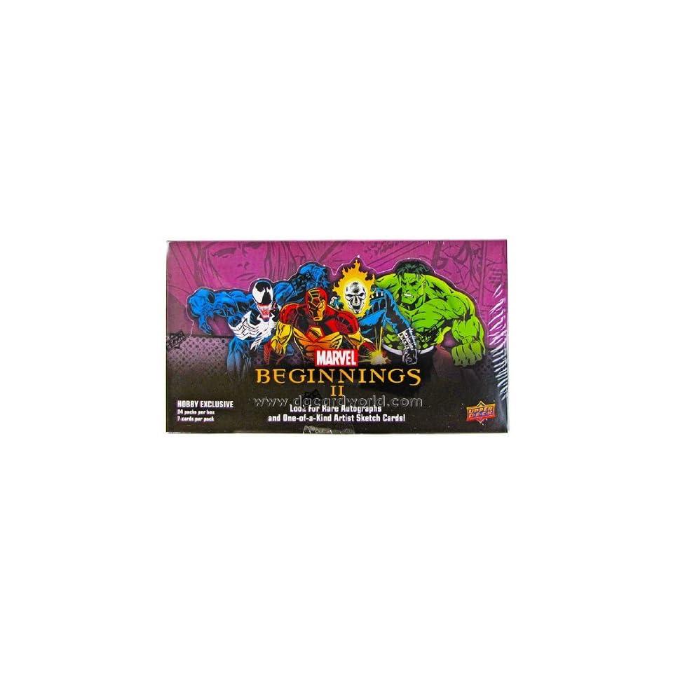 Marvel Beginnings II Trading Cards Hobby Box (2012 Upper Deck)