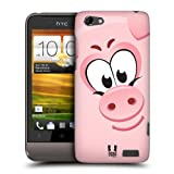 Head Case Designs Pig Square Face Animals Protective Snap-on Hard Back Case Cover for HTC One V