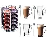 52TASSIMO POD TDISC HOLDER ROTATING BASE + 6FREE GLASSES!