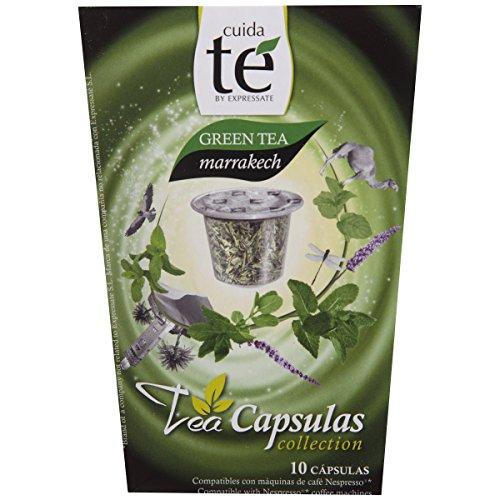 Cuida Te Green Tea marrakech, Thé Vert à la Menthe, Nespresso compatible, 10 Capsules