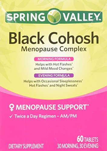 Spring-Valley-Black-Cohosh-Menopause-Complex-60-Tablets-Daytime-and-Nighttime-Advanced-Formula