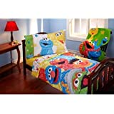Sesame Street Scribbles 4-piece Toddler Bedding Set