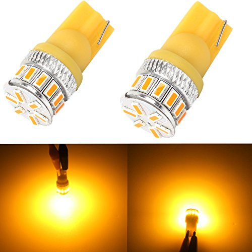 Alla Lighting Amber Yellow 194 168 2825 175 192 W5W LED T10 Wedge Super Bright High Power 3014 18-SMD LED Lights Bulb for License Plate Interior Map Dome Side Marker Light (Piaggio Fly 50 Spark Plug compare prices)