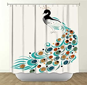 Shower curtain artistic designer from for Funky home decor accessories