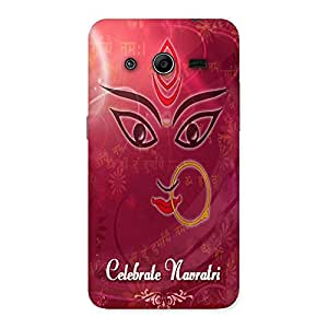 Ajay Enterprises Happy Navratre Print Back Case Cover for Galaxy Core 2