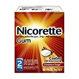 Nicorette Nicotine Gum to Stop Smoking, 2mg, Cinnamon Surge, 160 Count