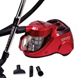 Swan SC6010N Cyclonic Cylinder Vacuum Cleaner, 2000 Watt, Red