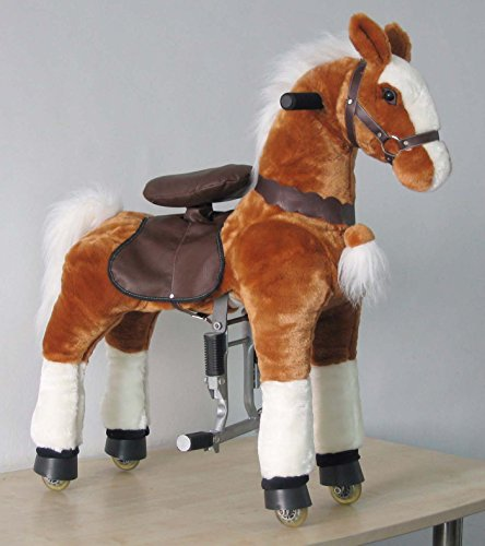 TWO UFREE Medium Mechanical Ride on Horses with Same Colors (Mane&tail in White & White)
