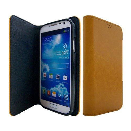 Galaxy S4 / ギャラクシー S4 (SC-04E) 対応 ケース P2J Antique Leather Flip Wallet / フォントゥージョイ アンティーク レザー フリップ ウォレット 手帳型 ケース Camal / キャメル