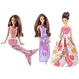 Vêtements Barbie - La collection de sirène(set de 3 robes) - POUPEES NON INCLUSES
