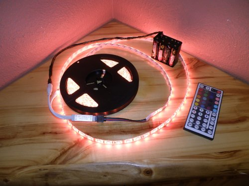 4' Aa Battery Powered Octopak 1S Tm - 44 Key Controller - 5050 Rgb Led Strip Light Kit 1.0