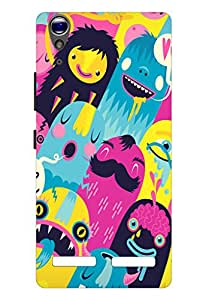 Joe Printed Plastic Back Case for Lenovo A6000 Mobile ( Multicolor)