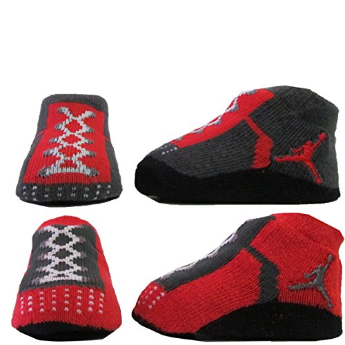 check out 2d726 3732f Nike Air Jordan Newborn Infant Baby Booties Socks Black White Red Air Jordan  Jumpman 23 Logo