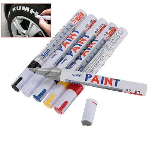 caract ristiques stylo feutre marqueur peinture permanent pneu inscrit marque auto moto blanc. Black Bedroom Furniture Sets. Home Design Ideas