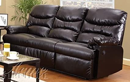 Acme 50925 Arcadia Motion Sofa, Cracked Brown Bonded Leather