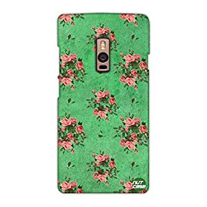 Designer OnePlus Two Case Cover Nutcase -Pink Roses Floral Vintage Shabby Chic