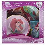 Zak Little Mermaid Plastic Plate, Bowl & Cup Mealtime Gift Set 3 Pieces