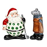 Appletree Design Golf Santa With Bag Salt And Pepper Collection, 3-5/8-Inch