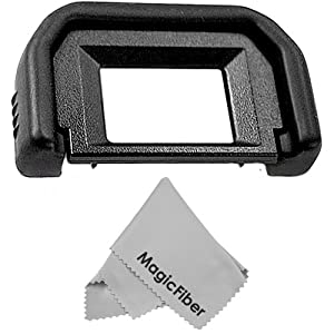 Eyepiece / Eyecup for CANON Rebel (T3i T3 T2i T1i XTi XSi XS), CANON EOS (1100D 600D 550D 500D 450D 400D 350D 300D) + Premium MagicFiber Microfiber Cleaning Cloth