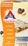 Atkins Day Break Blueberry Almond Baked Square Morning Snack, 1.4 oz. Squares, 5 Count