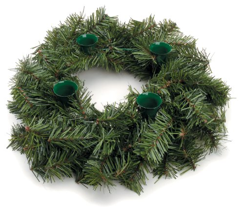 12 inch Advent Wreath with 100 Tips and Green Candle Cups