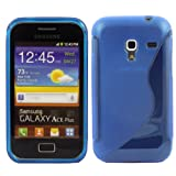 S-Line Gel Case Cover Skin For Samsung Galaxy Ace Plus S7500 / Blue