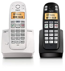 siemens gigaset e300 duo analog telefon mit 2 mobilteil. Black Bedroom Furniture Sets. Home Design Ideas