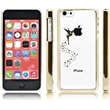 iProtect Schutzh�lle Apple iPhone 5c H�lle Fairy Style transparent gold