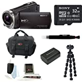 Sony HDR-CX330 HD Handycam Camcorder with 30x Optical/60x Extended Zoom and 2.7-inch LCD Screen in Black + Sony 16GB Micro SDHC + Replacement NP-FV50 Battery + Micro HDMI Cable + Sony Carrying Case + Accessory Kit