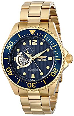 "Invicta Men's 15393 ""Pro Diver"" 18k Gold Ion-Plated Watch"