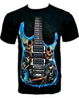 Rock Chang T-Shirt Hell Guitar (Glow In The Dark) GR 521