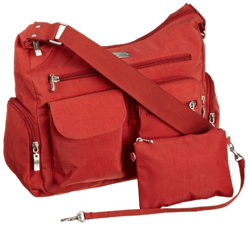 baggallini luggage everywhere bag with exterior pocket tomato one size b004xgbu56 amazon