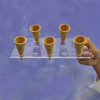 Acrylic Cone Serving Tray, 15 Holes