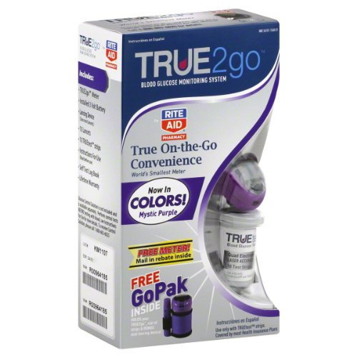 Cheap Rite Aid True2go Blood Glucose Monitoring System, 1 ea (NDC 56151-1340-01)