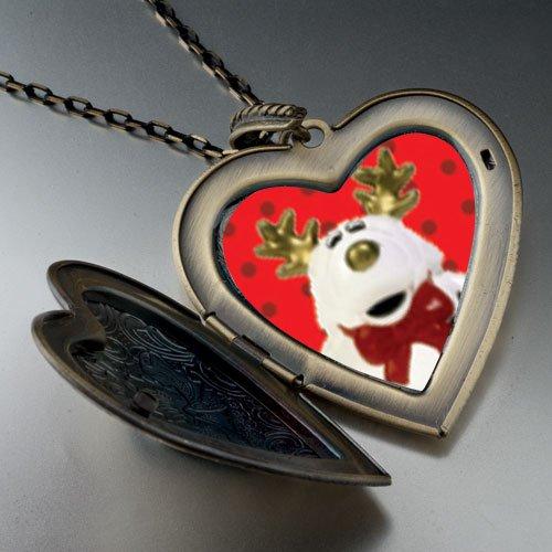 Reindeer Stuffed Animal Large Pendant Necklace