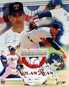 Nolan Ryan Autographed 16x20 Photo (Texas Rangers) Limited Edition by Autograph Warehouse