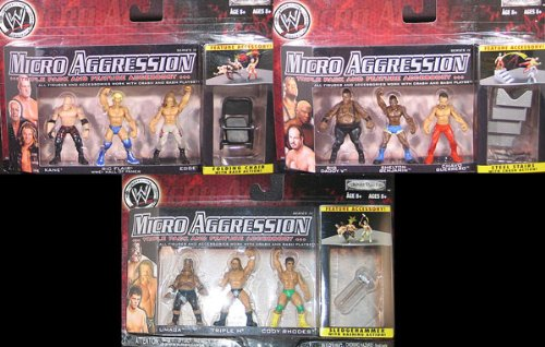 Wwe Wrestling Toys Micro Aggression 11 Complete Set Of 3 3