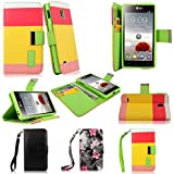 Cellularvilla PU Leather Wallet Card Flip Open Pocket Case Cover for Lg Optimus L9 P769 T-mobile