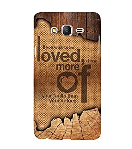 Wish To Be Love Cute Fashion 3D Hard Polycarbonate Designer Back Case Cover for Samsung Galaxy On5 (2015) :: Samsung On 5
