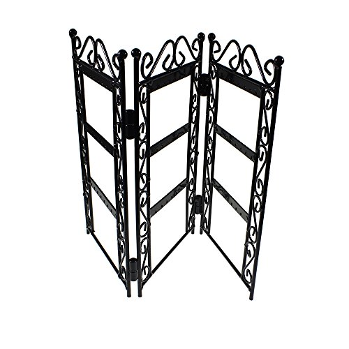Elegant Black Trellis Style Shabby Chic Earring Jewellery Display Holder Stand By Kurtzy Tm front-155744