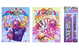 Shopkins Children\'s School Paper Folders & Shopkins Stationary Set Back To School Specials (5 Pack Stationary Set)